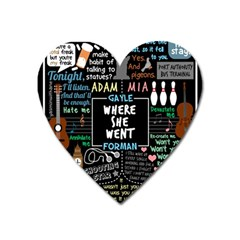 Book Quote Collage Heart Magnet by Samandel