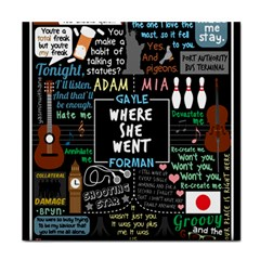 Book Quote Collage Face Towel