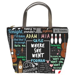 Book Quote Collage Bucket Bags