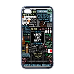 Book Quote Collage Apple Iphone 4 Case (black) by Samandel