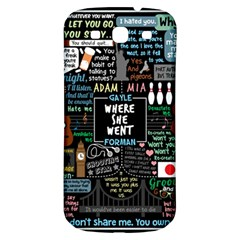 Book Quote Collage Samsung Galaxy S3 S Iii Classic Hardshell Back Case