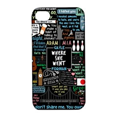 Book Quote Collage Apple Iphone 4/4s Hardshell Case With Stand