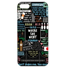 Book Quote Collage Apple Iphone 5 Hardshell Case With Stand