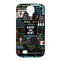 Book Quote Collage Samsung Galaxy S4 Classic Hardshell Case (pc+silicone)