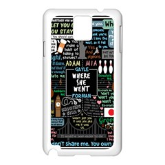 Book Quote Collage Samsung Galaxy Note 3 N9005 Case (white)