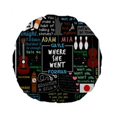 Book Quote Collage Standard 15  Premium Flano Round Cushions by Samandel