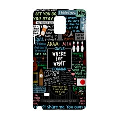 Book Quote Collage Samsung Galaxy Note 4 Hardshell Case by Samandel
