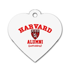 Harvard Alumni Just Kidding Dog Tag Heart (one Side)