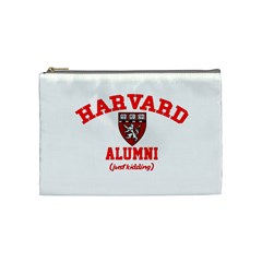Harvard Alumni Just Kidding Cosmetic Bag (medium)  by Samandel