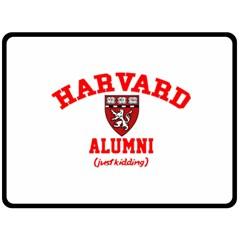 Harvard Alumni Just Kidding Double Sided Fleece Blanket (large)