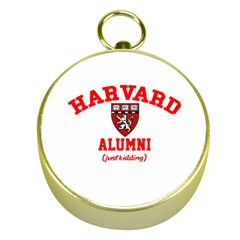 Harvard Alumni Just Kidding Gold Compasses by Samandel