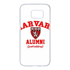 Harvard Alumni Just Kidding Samsung Galaxy S7 Edge White Seamless Case