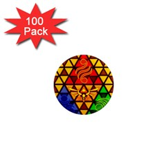The Triforce Stained Glass 1  Mini Magnets (100 Pack)