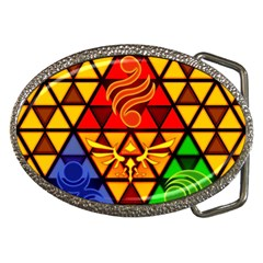 The Triforce Stained Glass Belt Buckles