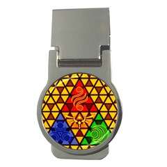 The Triforce Stained Glass Money Clips (round)