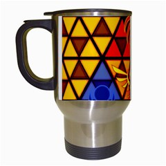 The Triforce Stained Glass Travel Mugs (white)