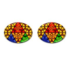 The Triforce Stained Glass Cufflinks (oval)