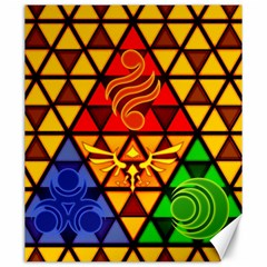 The Triforce Stained Glass Canvas 20  X 24