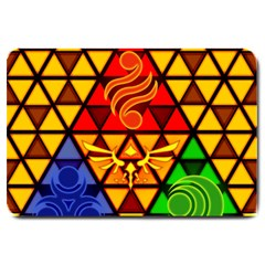 The Triforce Stained Glass Large Doormat