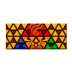 The Triforce Stained Glass Hand Towel
