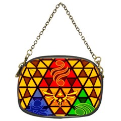 The Triforce Stained Glass Chain Purses (two Sides)