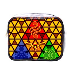 The Triforce Stained Glass Mini Toiletries Bags