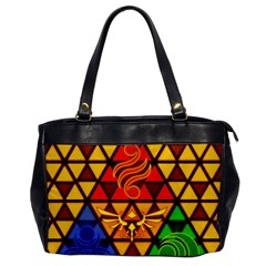 The Triforce Stained Glass Office Handbags
