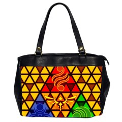 The Triforce Stained Glass Office Handbags (2 Sides)
