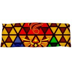 The Triforce Stained Glass Body Pillow Case Dakimakura (two Sides)
