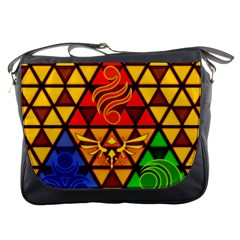 The Triforce Stained Glass Messenger Bags