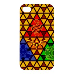 The Triforce Stained Glass Apple Iphone 4/4s Premium Hardshell Case