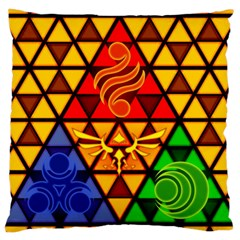 The Triforce Stained Glass Large Cushion Case (one Side)