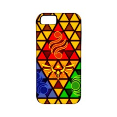The Triforce Stained Glass Apple Iphone 5 Classic Hardshell Case (pc+silicone)