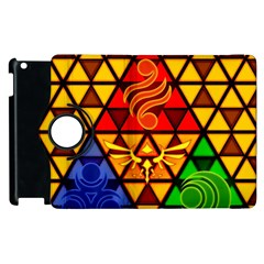 The Triforce Stained Glass Apple Ipad 3/4 Flip 360 Case