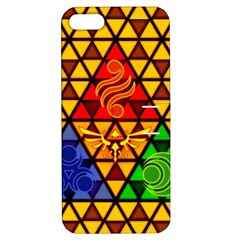 The Triforce Stained Glass Apple Iphone 5 Hardshell Case With Stand