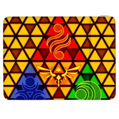 The Triforce Stained Glass Samsung Galaxy Tab 7  P1000 Flip Case