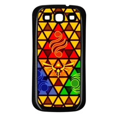The Triforce Stained Glass Samsung Galaxy S3 Back Case (black)