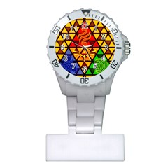 The Triforce Stained Glass Plastic Nurses Watch