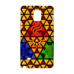 The Triforce Stained Glass Samsung Galaxy Note 4 Hardshell Case