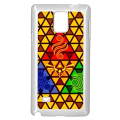 The Triforce Stained Glass Samsung Galaxy Note 4 Case (white)
