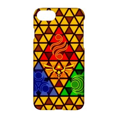 The Triforce Stained Glass Apple Iphone 8 Hardshell Case