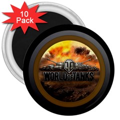 World Of Tanks Wot 3  Magnets (10 Pack)