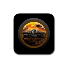World Of Tanks Wot Rubber Square Coaster (4 Pack)
