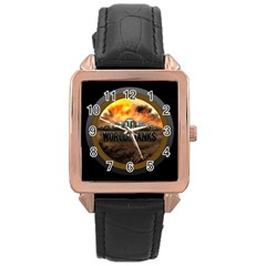 World Of Tanks Wot Rose Gold Leather Watch