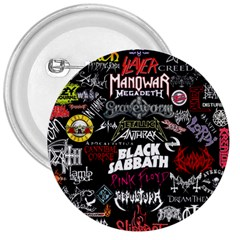 Metal Bands College 3  Buttons