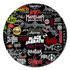 Metal Bands College Magnet 5  (round)
