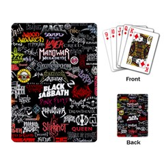 Metal Bands College Playing Card