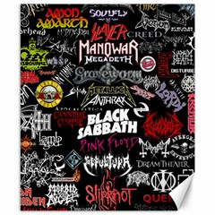 Metal Bands College Canvas 8  X 10