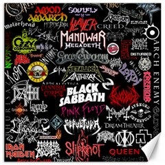 Metal Bands College Canvas 12  X 12   by Samandel