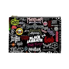 Metal Bands College Cosmetic Bag (large)